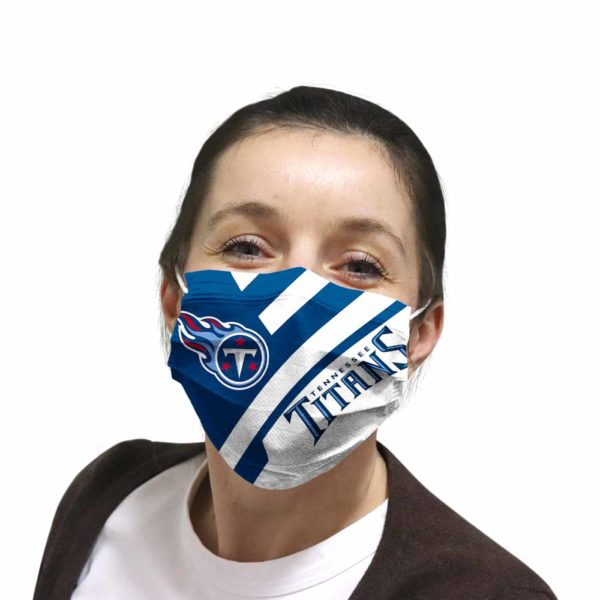 Tennessee Titans face mask Filter PM2.5 inner Pocket