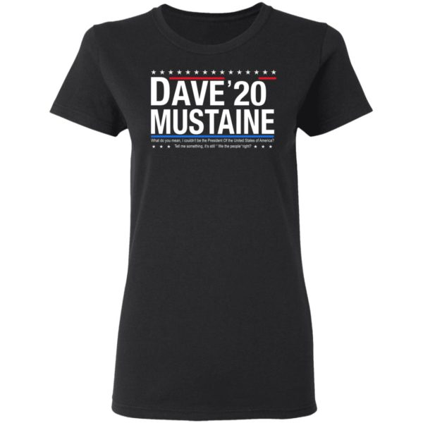 Dave Mustaine 2020 shirt 3