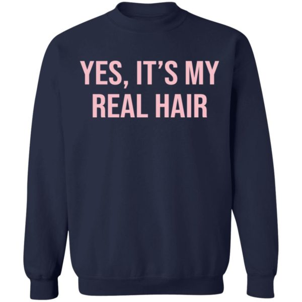 Yes It's my real hair shirt 10