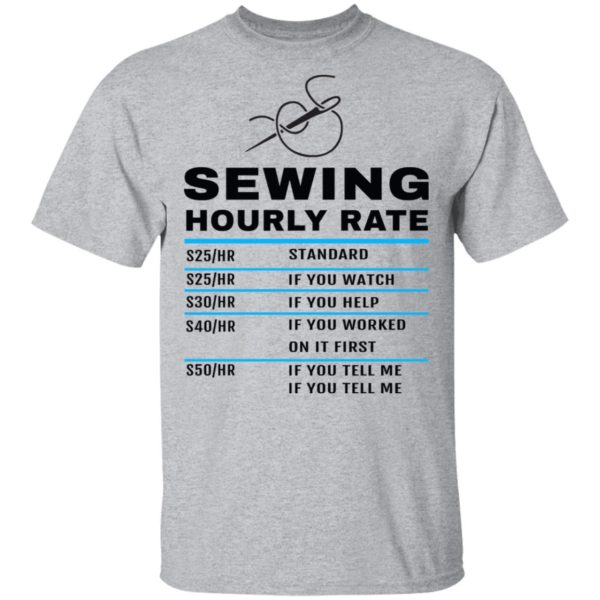 Sewing hourly rate shirt 2