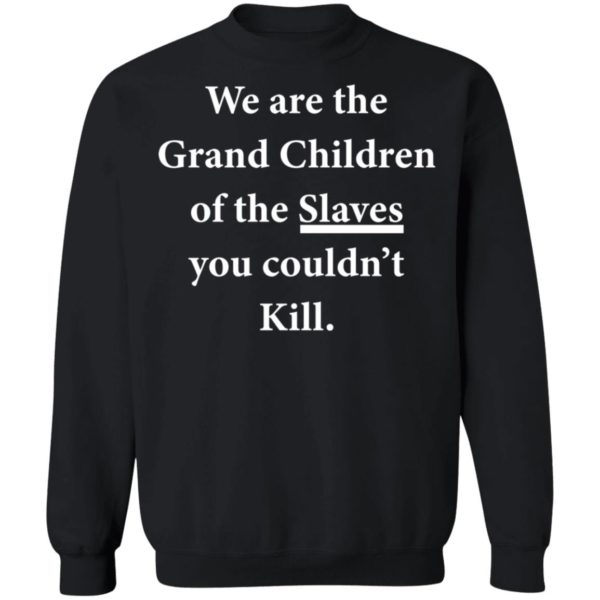 We are the Grandchildren of the Slaves you couldn't Kill shirt 9