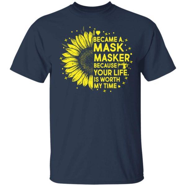 Sunflower I Became A M*sk Masker Because Your Life Is Worth My Time shirt 2
