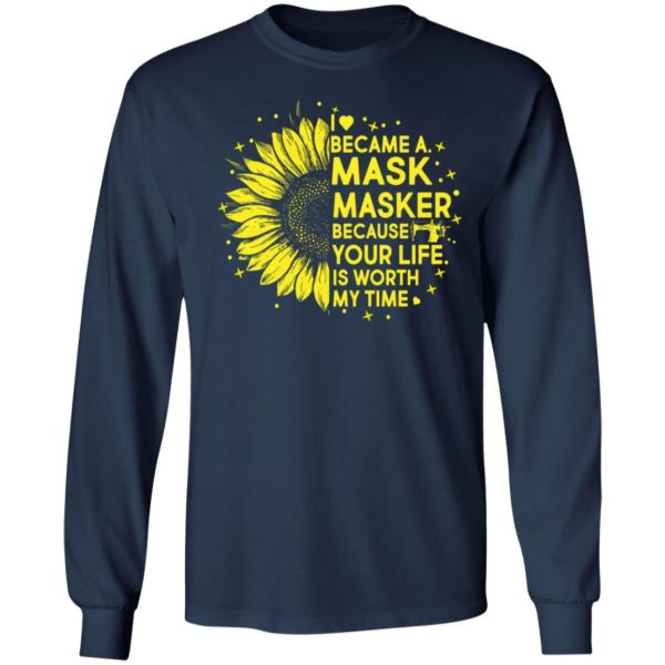 Sunflower I Became A M*sk Masker Because Your Life Is Worth My Time shirt 6