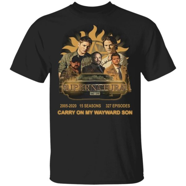 Supernatural Carry on my wayward son shirt