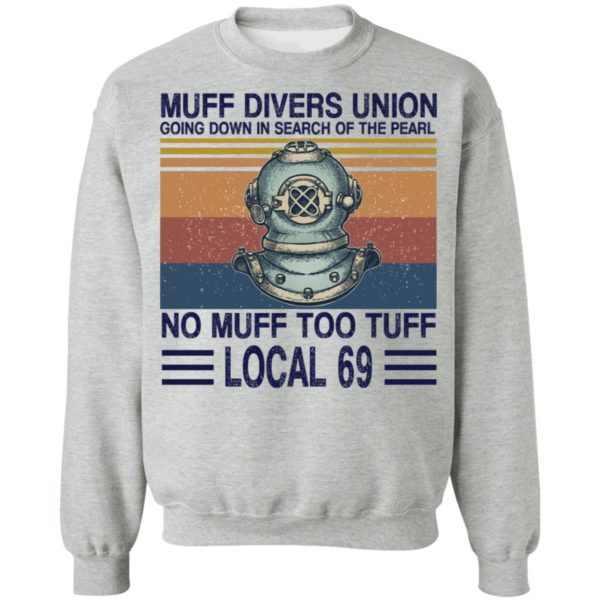 Muff divers union going down in search of the pearl shirt 9