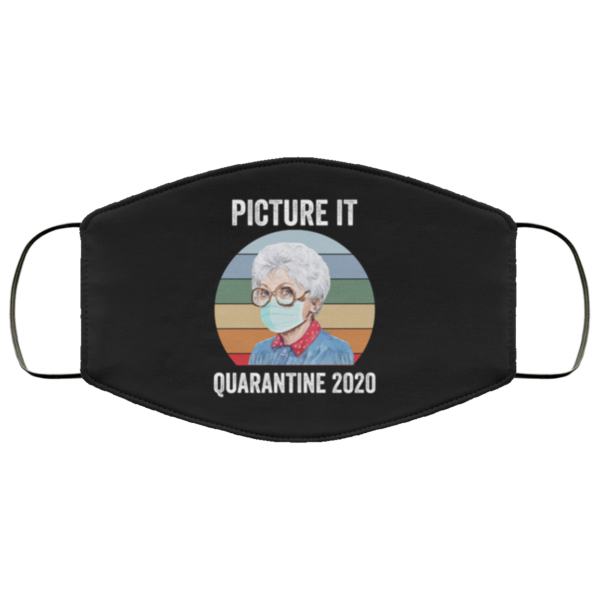 Sophia Picture it Quarantine 2020 face mask washable, Reusable