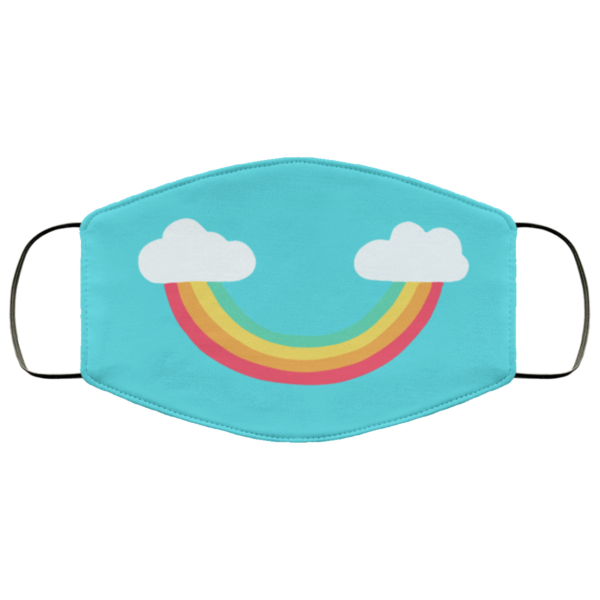 Rainbow smile face mask washable, Reusable