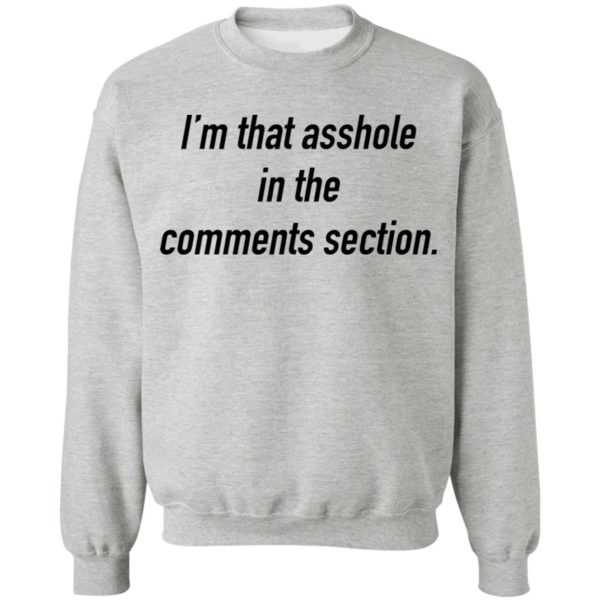 I'm that asshole in the comments section shirt 9