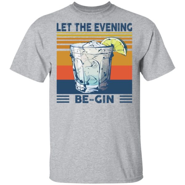 Martini cocktail Let the evening be gin shirt 2
