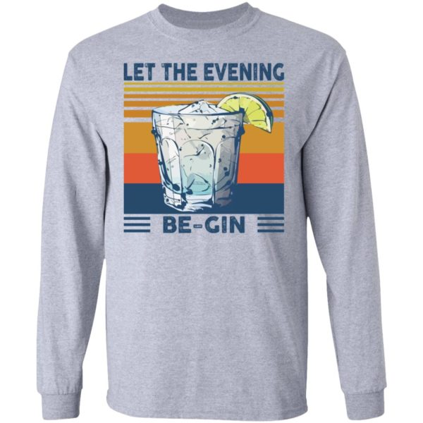 Martini cocktail Let the evening be gin shirt 5