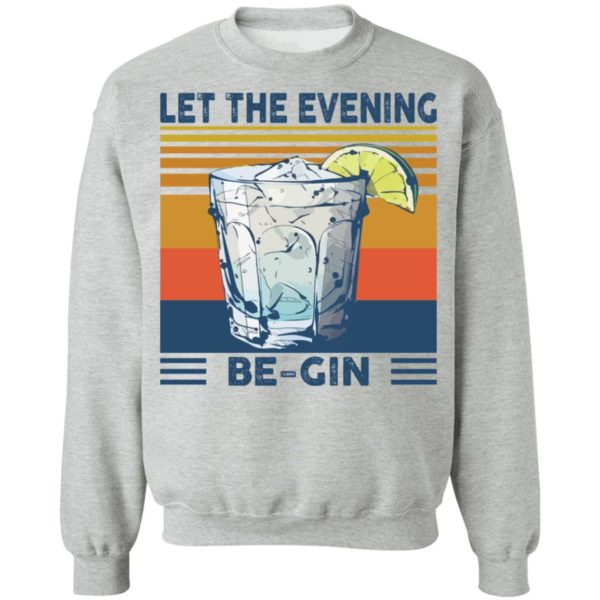 Martini cocktail Let the evening be gin shirt 9