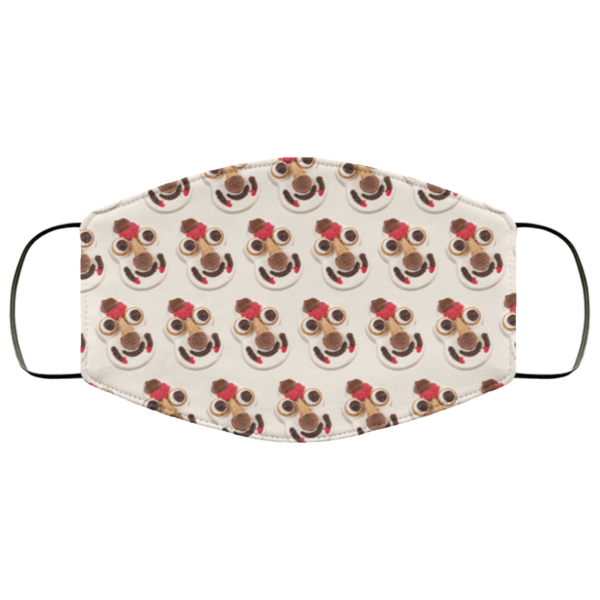 Cookie Puss face mask washable, Reusable
