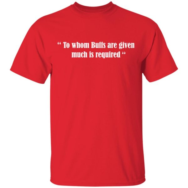 To whom Buffs are given much is required shirt 2