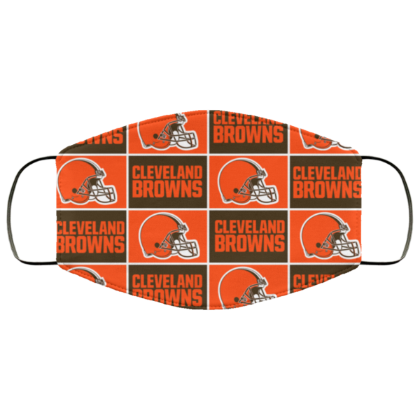 Cleveland Browns face mask washable, Reusable