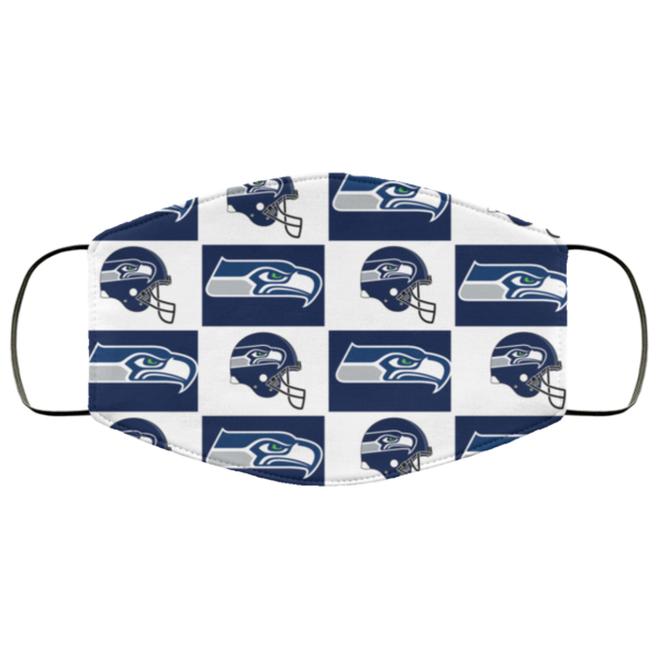 Seattle Seahawks face mask washable, Reusable