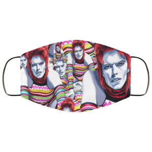 Ziggy Bowie face mask washable, Reusable