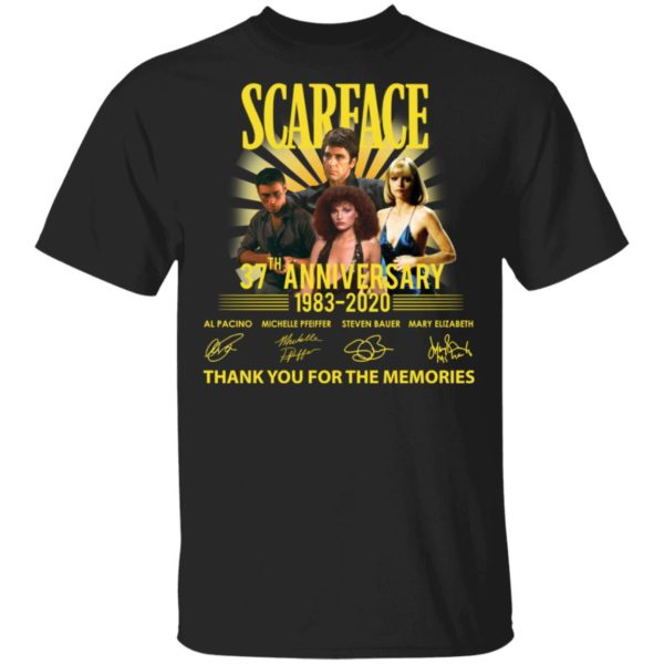 Scarface 37th Anniversary thank you for the memories shirt