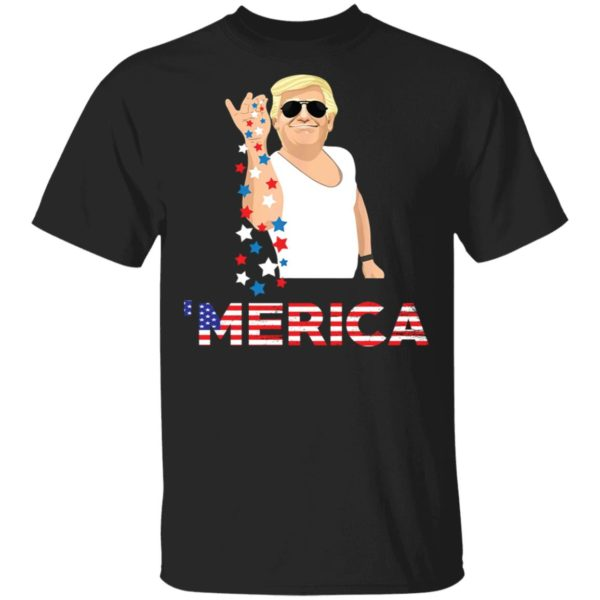 Donald Trump Merica Salt Bae 4th of july shirt