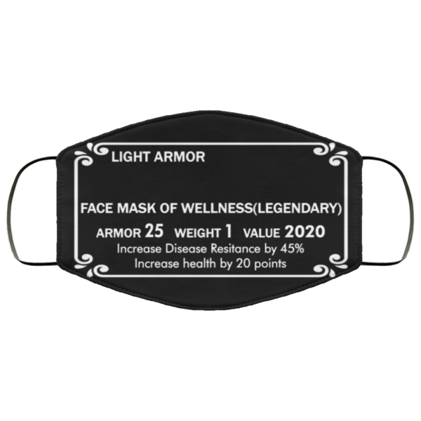 Light Armor Face Mask Of Wellness Legendary Face Mask