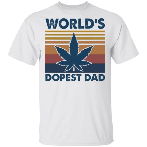 World's dopest Dad vintage shirt