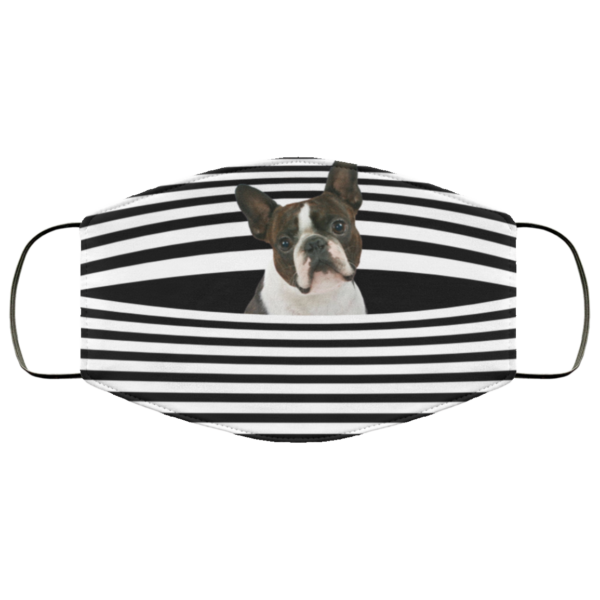 Boston Terrier Stripes face mask