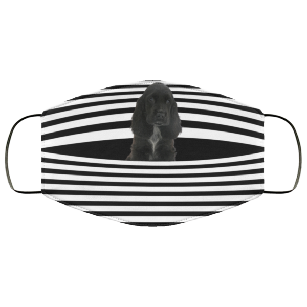 Black Cocker Spaniel Stripes face mask