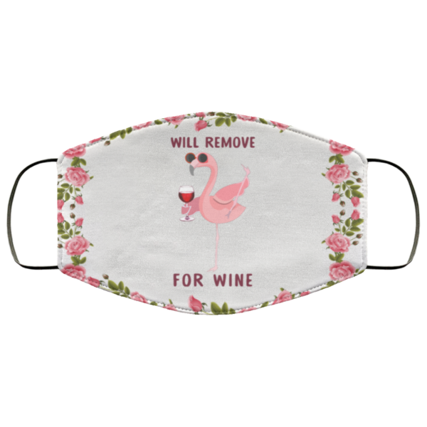 Flamingo will remove for wine face mask