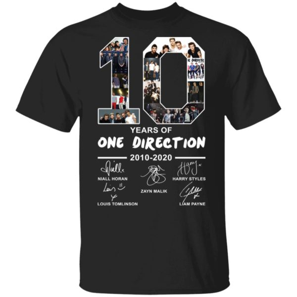 O 10 Years of one direction shirt