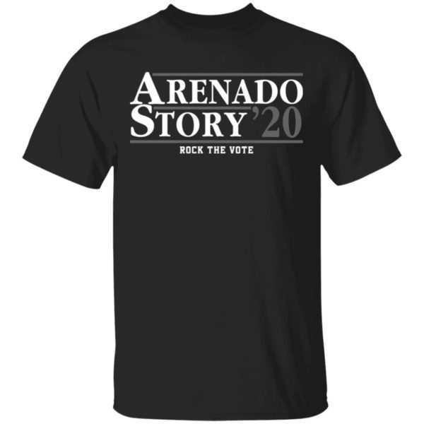 Arenado Story 2020 rock the vote shirt
