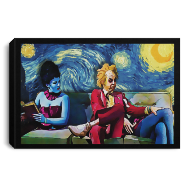 Beetlejuice Lydia Starry Night poster, canvas