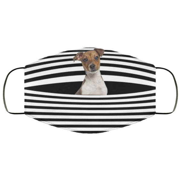 Jack Russell Stripes face mask