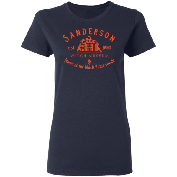 Sanderson witch museum home of the black flame candle shirt 4
