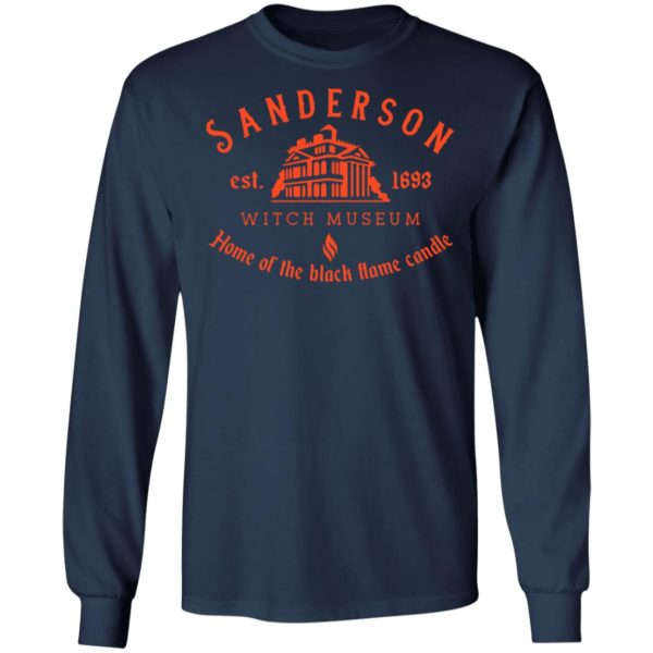 Sanderson witch museum home of the black flame candle shirt 8