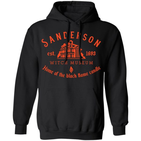Sanderson witch museum home of the black flame candle shirt 9