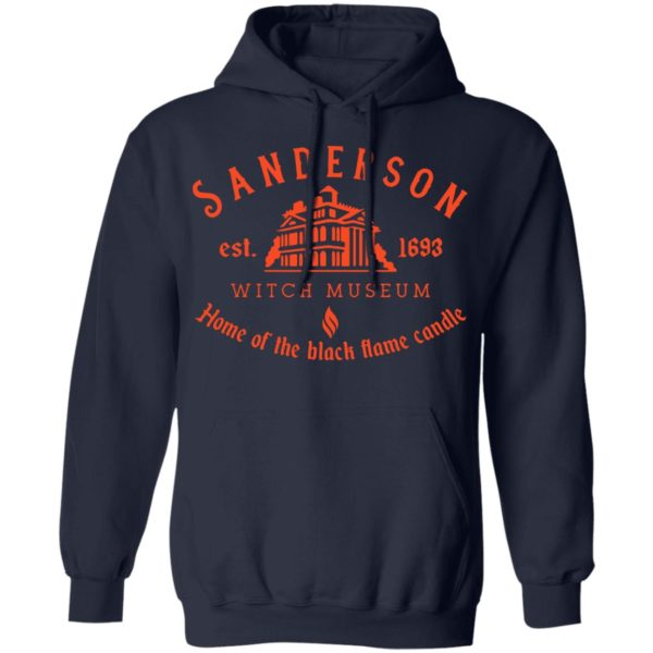 Sanderson witch museum home of the black flame candle shirt 10