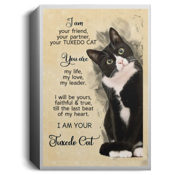 I am your friend your partner your TUXEDO CAT poster, canvas 5