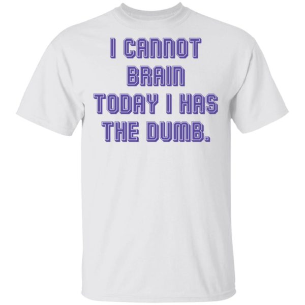 I cannot brain today I has the dumb shirt