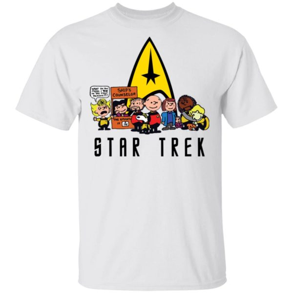 Charlie Brown Snoopy Star Trek shirt