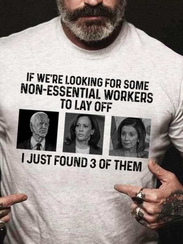 If we're looking for some non-essential workers to lay off, I just found 3 of them: Biden, Kalama Harris